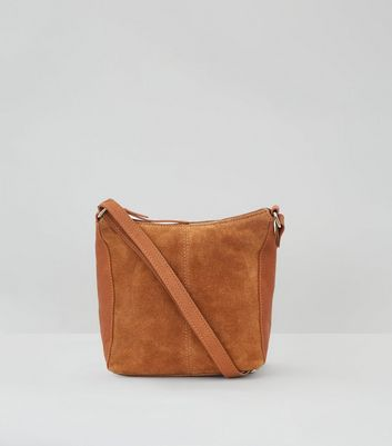 Tan Premium Suede Shoulder Bag
