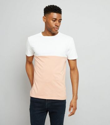 Pink Colour Block T-Shirt