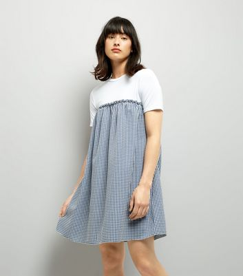 Blue Gingham 2 in 1 Dress