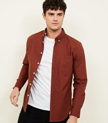 Rust Long Sleeve Oxford Shirt