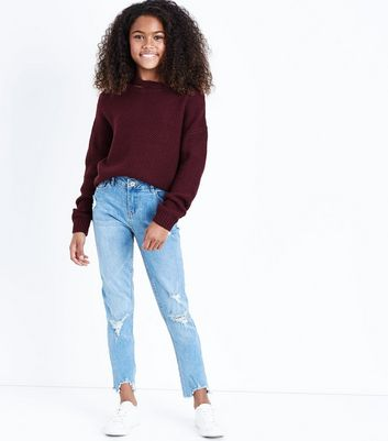 Teens Blue No Rules Pearl Embellished Skinny Jeans
