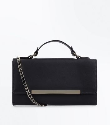 Black Chain Strap Clutch