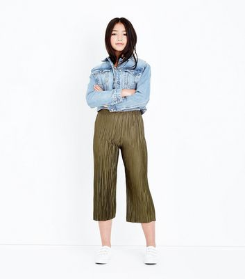 Teens Khaki Pleated Trousers