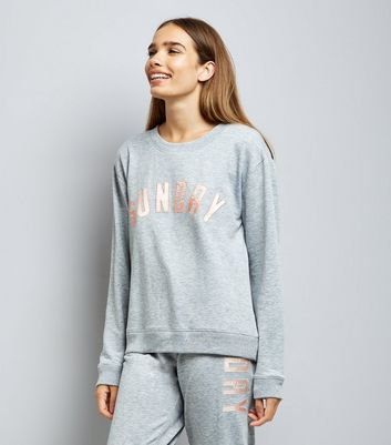 Grey Sunday Applique Lounge Sweater