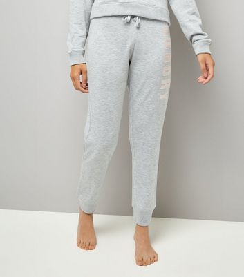 Tall Grey Sunday Embroidered Pyjama Joggers