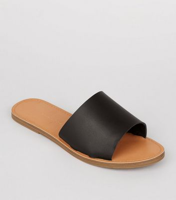 Wide Fit - Mules noires