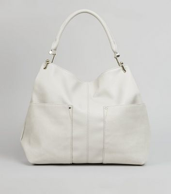 Grey Gold Hook Tote Bag