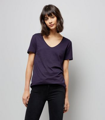 Tall Navy Scoop Neck T-Shirt
