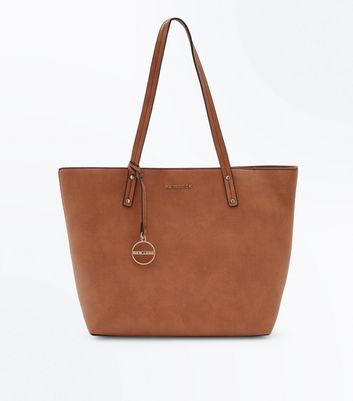 Tan New Look Branded Tote Bag