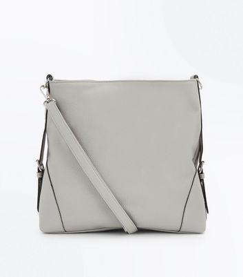 Grey Textured Oversized Shoulder Bag