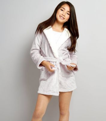 Teens Pale Pink Fluffy Robe