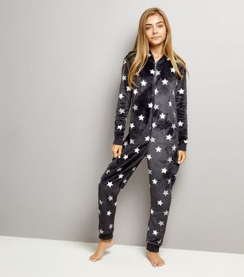 Teens Grey Star Print Onesie