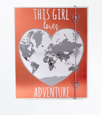 Shell Pink This Girl Loves Adventure Photo Wall Hanging