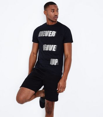 Black Never Give Up Sports T-Shirt