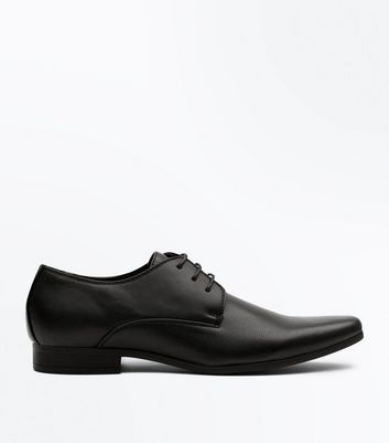 Black Perforated Formal Gibson Shoes