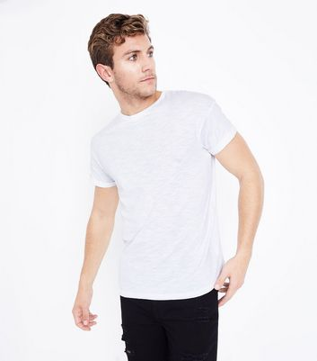 White Cotton Short Sleeve T-Shirt