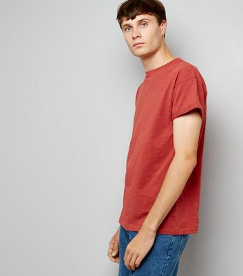 Red Cotton Short Sleeve T-Shirt