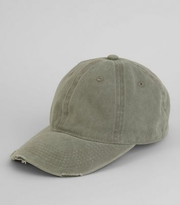 Grey Acid Washed Denim Cap