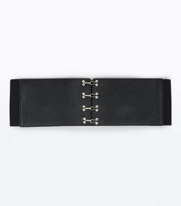 Black Hook And Eye Waist Belt