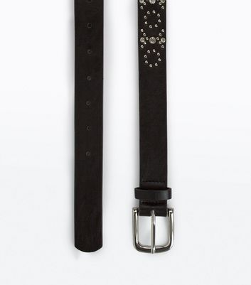 Black Stud Diamanté Embellished Jeans Belt
