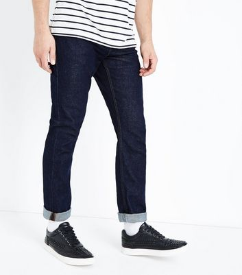 Dark Blue Slim Leg Jeans