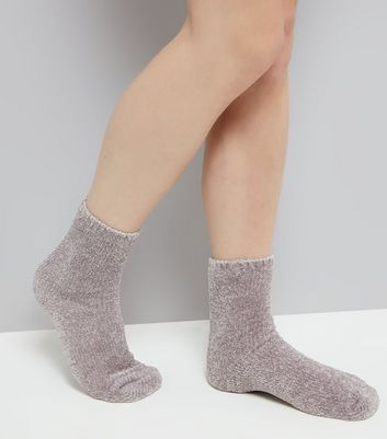 Grey Super Soft Slipper Socks