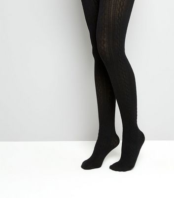 Black Cable Tights