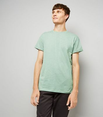 Mint Green Rolled Sleeve T-Shirt