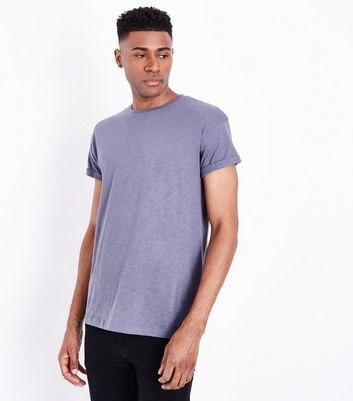 Purple Rolled Sleeve T-shirt