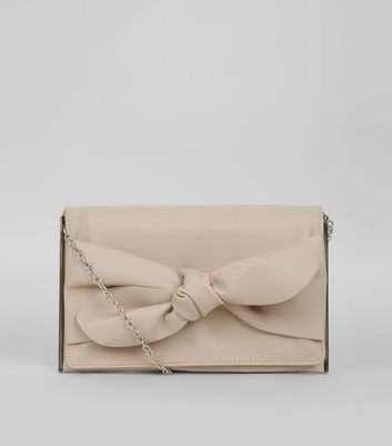 Shell Pink Bow Clutch
