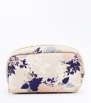 Pink Floral Make Up Bag