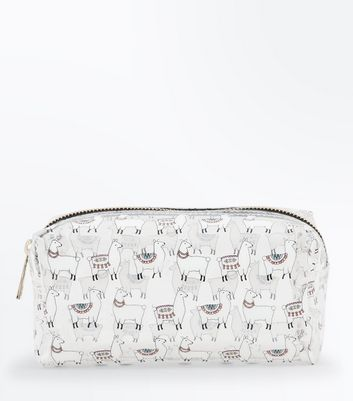 Transparent Llama Print Make Up Bag