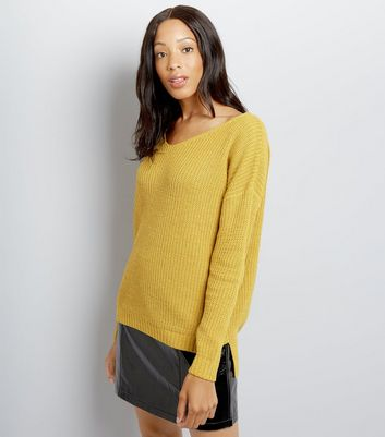 Cameo Rose Yellow Ladder Back Jumper