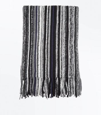 Black Stripe Scarf