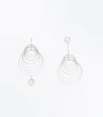 Silver Multi Ring Earrings