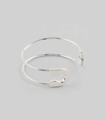 Silver Safety Pin Cuff