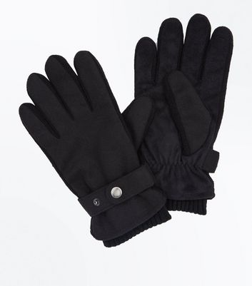 Black Strap Detail Gloves