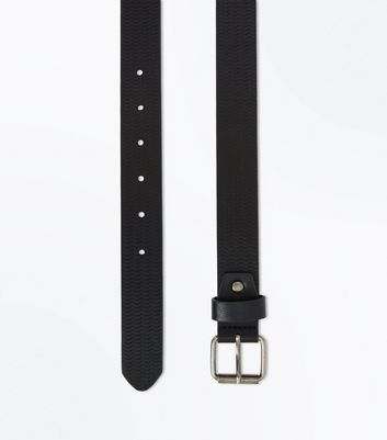 Black Scallop Embossed Belt