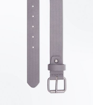 Grey Scallop Embossed Belt