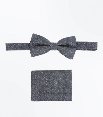 2 Pack Navy Speckled Tie and Handkerchief
