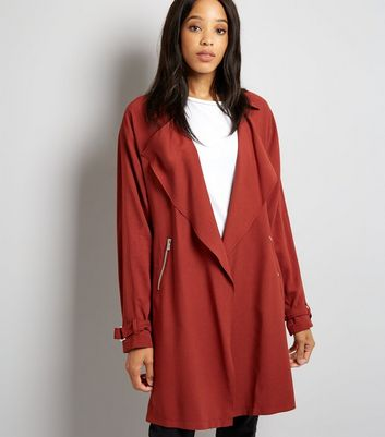 Tall Burgundy Duster Coat