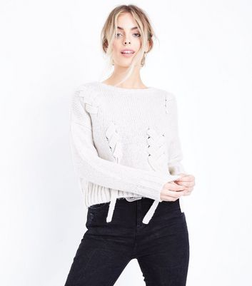Womens Lace up Jumper New Look Choice Online Outlet Good Selling B65Qnh9KWa