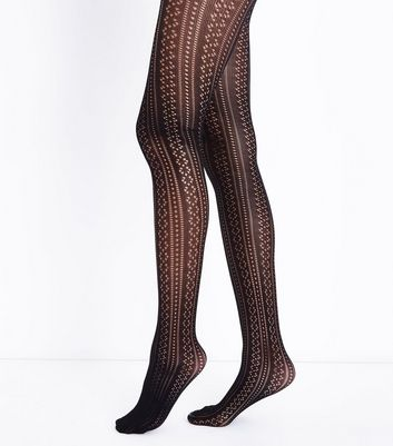 Black Pointelle Tights