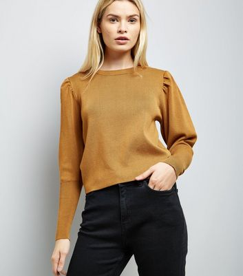 Mustard Yellow Balloon Sleeve Jumper