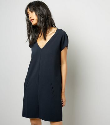 Black V Neck Tunic Dress