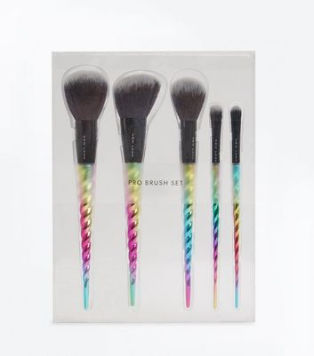 5 Pack Metallic Spiral Handle Brush Set