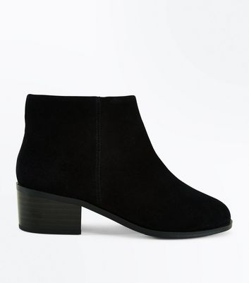 Teens Black Suede Ankle Boots