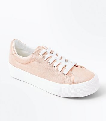 Rose Gold Metallic Chunky Sole Trainers