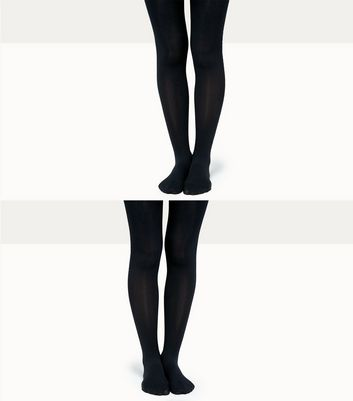 Teens 2 Pack Black 70 Denier Tights
