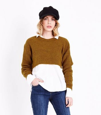 Yellow Cropped Jumper
